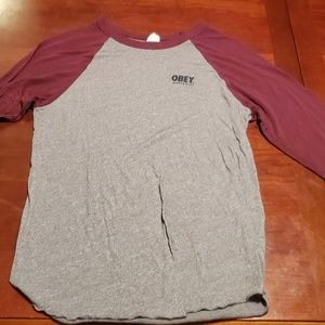 Obey ladies shirt is size small